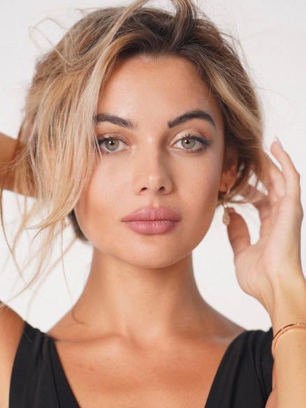 Russian fashion model Anna Mudrik