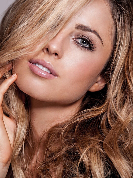 pretty blonde model
