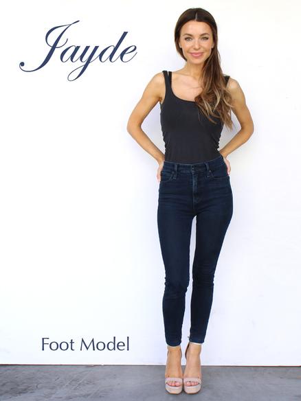 Foot Model Size 6 Shoe Jayde Rossi