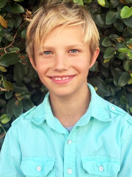 Young teen blond boy actor Sebastian Wild