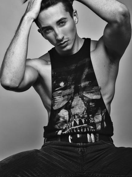 Editorial fashion model Derek Scott