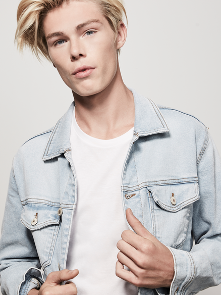 Tall Blonde Male Model Tai Waters