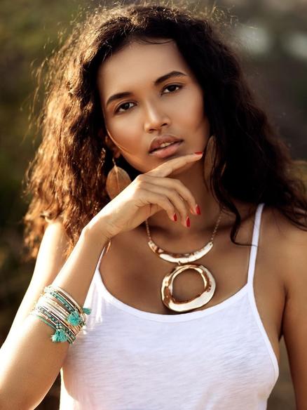 Kazakhstani Ethiopian Model Kristina Menissov