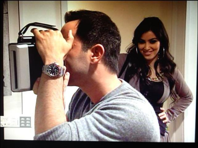 David with Kim Kardashian on Keeping Up With The Kardashians