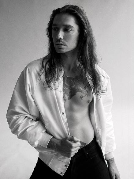 Edgy male model Trevor