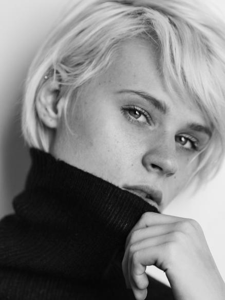 Blonde Edgy Model Shaina Lavine