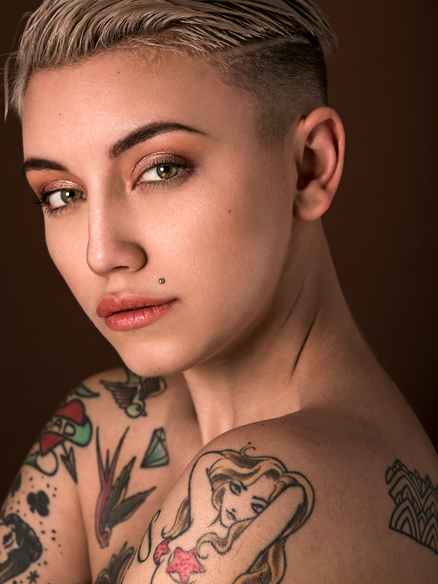 androgynous female model