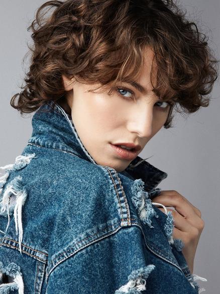 Short Hair Model Carli Glubok