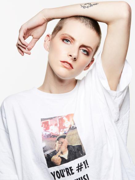Androgynous Model Laya Wyatt